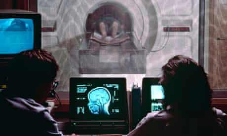 Child undergoing MRI brain scan