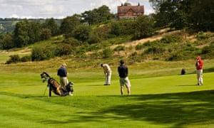 Golfers on Reigate Heath Golf Course