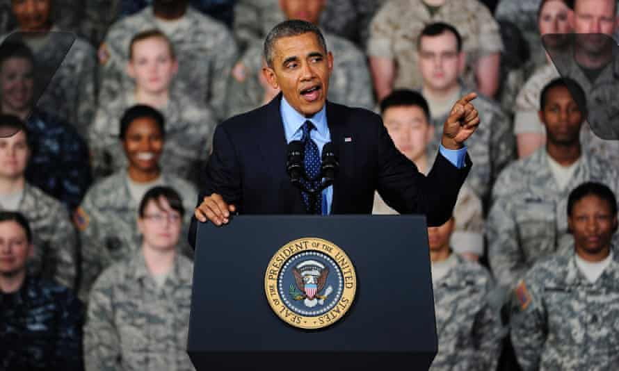 Barack Obama, speaking at the Yongsan military base in South Korea, described the border with the North as 'freedom's frontier'.