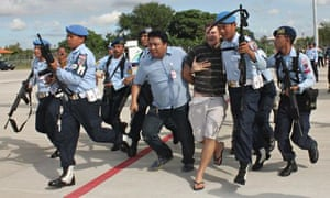Matt Lockley is arrested by Indonesian Air Force soldiers