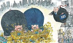 David Simonds cartoon on Osborne's action to curb RBS bonuses