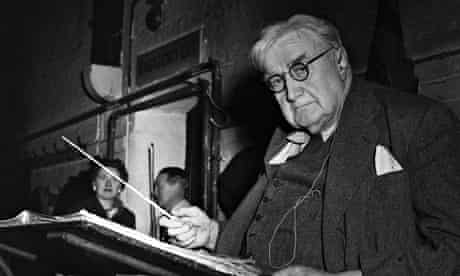 English composer Vaughan Williams, 1956