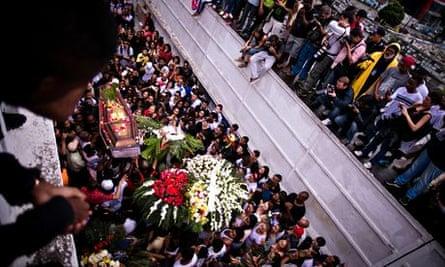 The funeral of Douglas Rafael da Silva Pereira in Rio de Janeiro