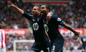 Danny Rose and Spurs go 1-0 up at Stoke.