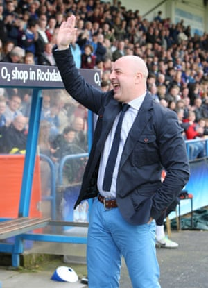 Rochdale manager Keith Hill during their game against Cheltenham.