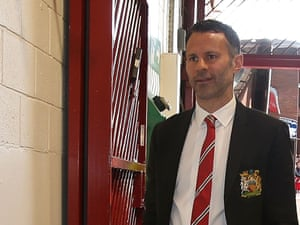 Ryan Giggs arrives at the office.