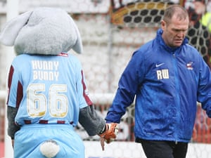 Despite defeat at Exeter today, Scunthorpe United and their mascot will return to League One.