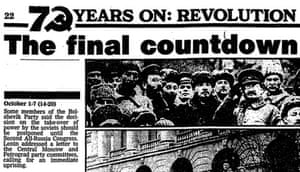 Guardian, 6 November 1987: timeline of the countdown to the Russian revolution of 1917, 70 years on
