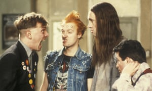 The Young Ones, a BBC sitcom about students, screened in 1982