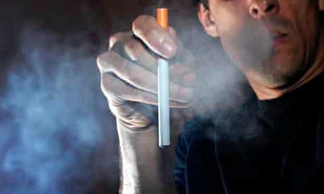 An e-cigarette user
