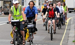 Tube strikes promts commuters to cycle to work