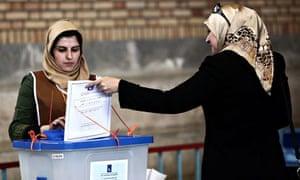 An Iraqi woman residing in Iran casts he