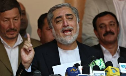 Afghan presidential candidate Abdullah Abdullah, front-runner to succeed Hamid Karzai.