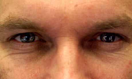 A man's eyes