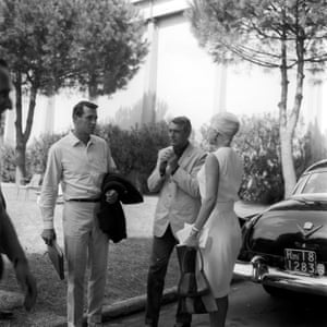 Rock Hudson and Cary Grant at Cinecittà, June 1961.