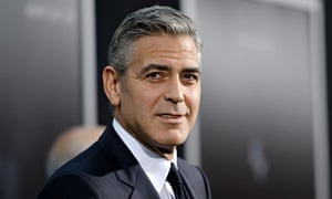 George Clooney attends a film premiere
