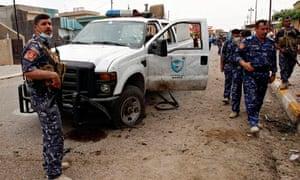 Iraq bomb polling station Kirkuk