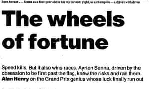 Alan Henry piece on Senna's death, May 2 1994