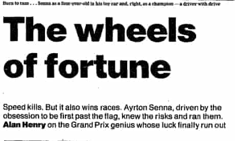 Alan Henry piece on Senna's death, May 2 1994
