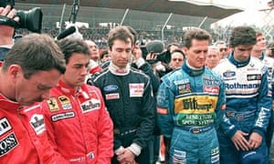 Formula One drivers observe a minute of silence in memory of Senna