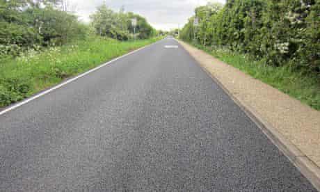 Long straight road at Heathrow