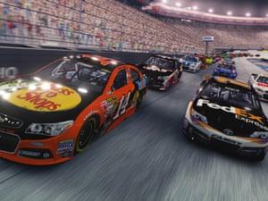 A screenshot of the videogame NASCAR 14.