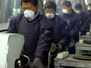 North Koreans work at Living Art, a kitchenware maker, which became the first South Korean firm to start production in a joint industrial park in the North Korean border city of Kaesong in 2004.