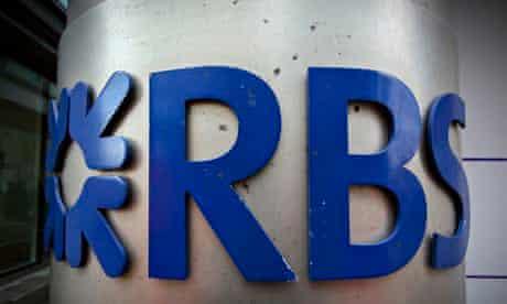 RBS logo at the Bishopsgate building in London