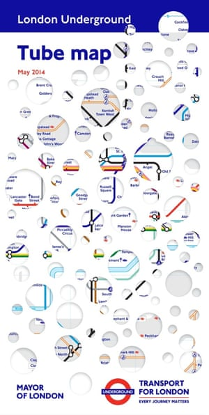 May 2014   Tube map covers Rachel Whiteread The hole of London
