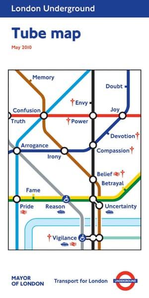 May 2010  Barbara Kruger  Untitled tube map