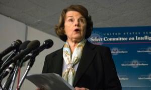 Senate intelligence committee chair Senator Dianne Feinstein.