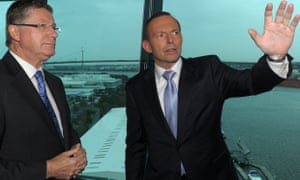 Denis Napthine and Tony Abbott announce the $1.5bn boost for stage two of Melbourne's East West link.