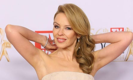Kylie Minogue at the Logies.