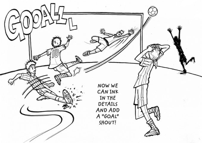 How to draw a footballer childrens books the guardian