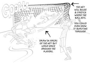 How to draw a footballer: 11 footballer