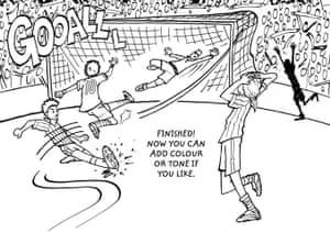 How to draw a footballer: 13 footballer