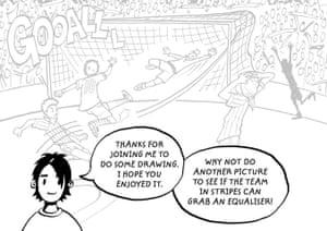 How to draw a footballer: 14 footballer