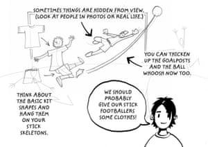 How to draw a footballer: 5 footballer