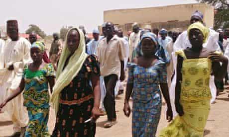 Girls in Chibok, Nigeria