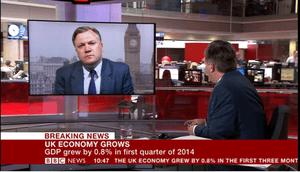 Ed Balls in BBC News 24