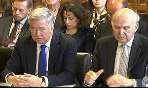 Michael Fallon (left) and Vince Cable