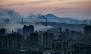 The North Korean capital Pyongyang.