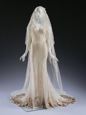Wedding dresses at the va in pictures fashion the guardian kate mosss wedding dress and veil designed by john galliano 2011 worn by kate junglespirit Gallery