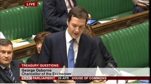 George Osborne, Treasury questions, April 29 2014