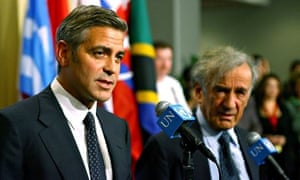 George Clooney at a UN Security Council meeting in 2006