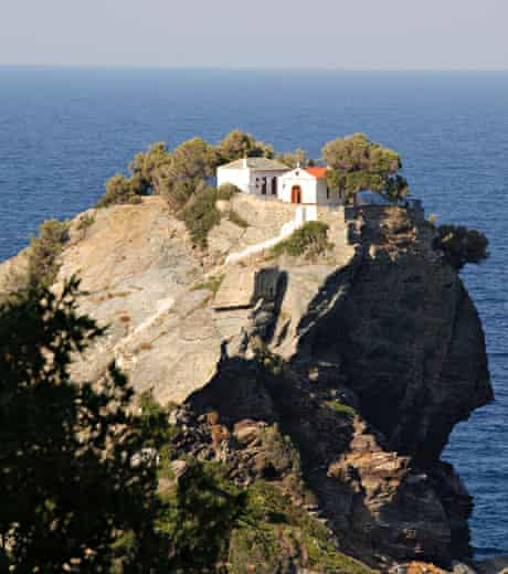 B57TW3 Church of Ayios Ioannis, used in the wedding scene of the film Mamma Mia!