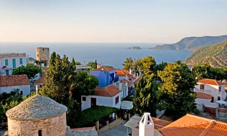 View over Alonissos old town.