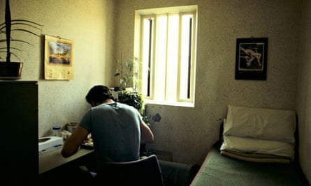 inmate in Featherstone prison cell