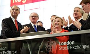 Moya Greene  and colleagues open trading at the London Stock Exchange