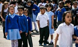 schoolchildren london